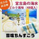 雪塩ちんすこうミルク風味(箱)48個入【送料無料】