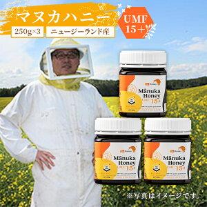 送料無料 ニュージーランド産 マヌカハニーUMF15+(MGO514+)250g×3個 送料無料 | はちみつ ハチミツ 蜂蜜 純粋はちみつ マヌカ蜂蜜 マヌカはちみつ ニュージーランド産 まとめ買い 健康食品 健