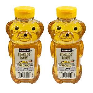 カナダ産ハニーベアー(蜂蜜)大容量750g入 お買い得2本セット カークランドシグニチュア コストコ