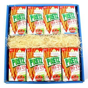 (地域限定送料無料) グリコ プリッツ<熟トマト> 16個 ギフトセット さんきゅーマーチ (4901005520790sx16gk)