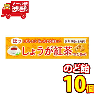 (全国送料無料) ライオン しょうが紅茶のどあめ【10個セット】さんきゅーマーチ メール便 (4903939015540m)
