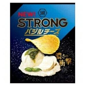 コイケヤ KOIKEYA STRONG ポテトチップス バジルチーズ 52g 12コ入り 2021/08/23発売 (4514410168527)