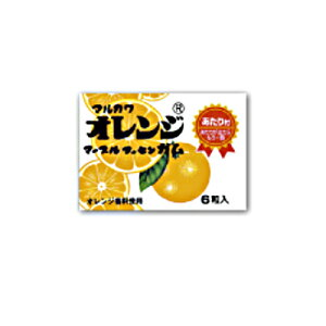 マルカワ オレンジマーブルガム(アタリ付き) 6粒 36コ入り (49438147)