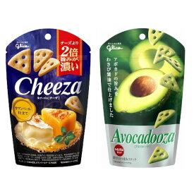 (地域限定送料無料) グリコ 生チーズのチーザ<カマンベール仕立て>&アボカドーザ (2種・計14個) セット さんきゅーマーチ (omtma6889k)