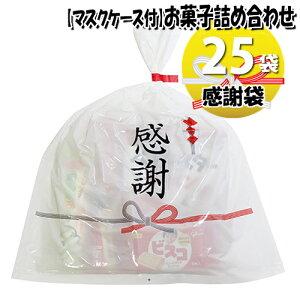 (地域限定送料無料) 【使い捨てタイプマスクケース付き】感謝袋 お菓子袋詰め 詰め合わせ(Bセット) 25袋セット 駄菓子 さんきゅーマーチ (omtma6922x25kz)