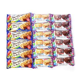 (全国送料無料) グリコ バランスオンminiケーキ(2種・各6コ)&毎日果実〈フルーツたっぷりのケーキバー〉(6コ)B セット メール便 (omtmb6168)