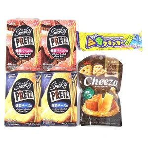 (全国送料無料) スモーキープリッツ<燻製チーズ・燻製ベーコン>・チーザ<燻製チーズ>・三角クラッカーセット さんきゅーマーチ メール便 (omtmb6307)