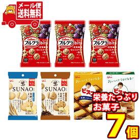 (全国送料無料) グリコとカルビーのからだつよくなる栄養たっぷりお菓子セット T(5種・7コ入)さんきゅーマーチ メール便 (omtmb7384)