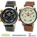 adidas アディダス INDIANAPOLIS インディアナポリス メンズ腕時計 クロノグラフ レザーベルト