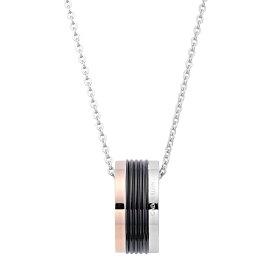 カルバンクライン ネックレス ペンダント Calvin Klein トリコロール サークル KJ7MBN300100