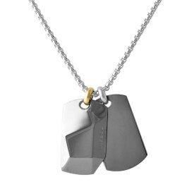 ディーゼル ネックレス ペンダント ドッグタグ メンズ DIESEL ダブル ブレイブマン(モヒカン) DX1143040
