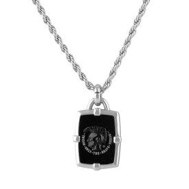 ディーゼル ネックレス ペンダント メンズ DIESEL ブレイブマン(モヒカン) ブラックアゲート DX1174040