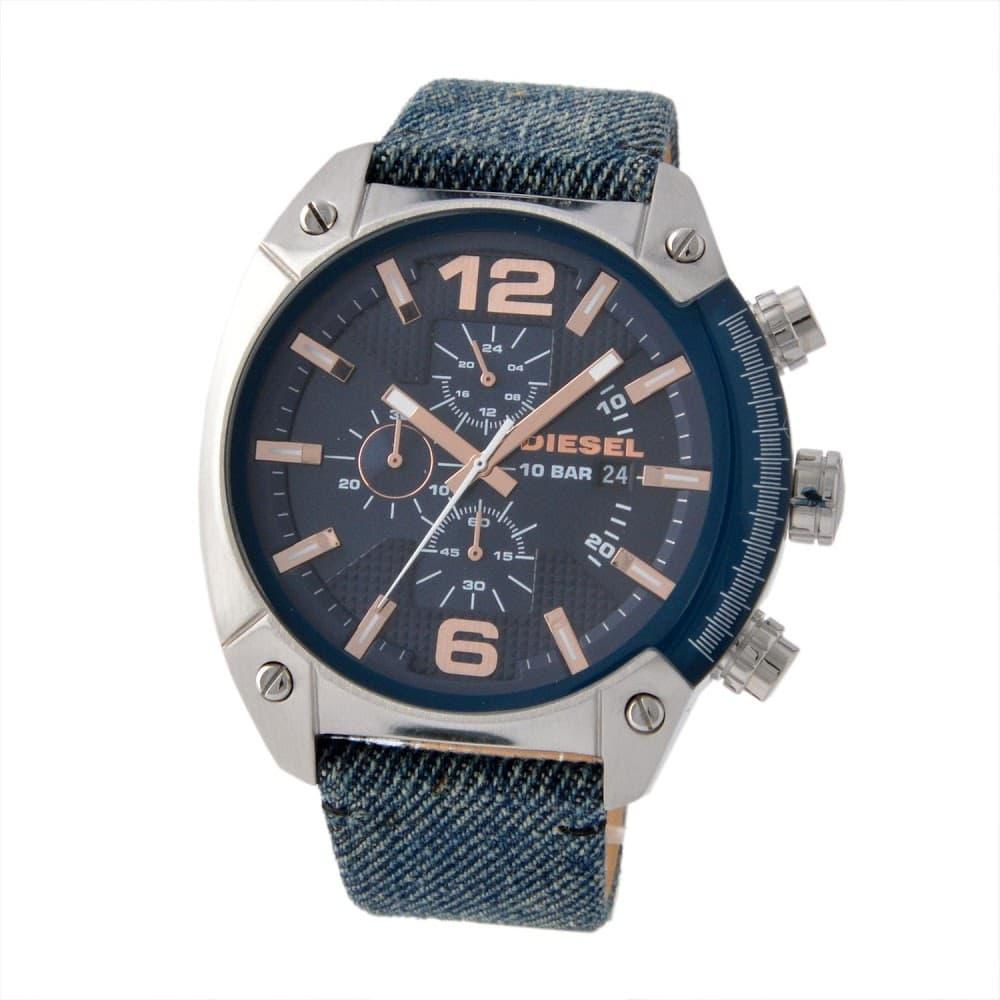 DIESEL ディーゼル メンズ腕時計 DZ4374 OVERFLOW オーバーフロー ブルーデニム ネイビー
