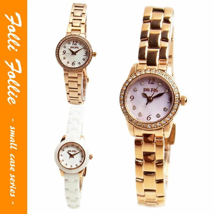 フォリフォリ 腕時計 レディース Folli Follie クリスタルガラス 丸型