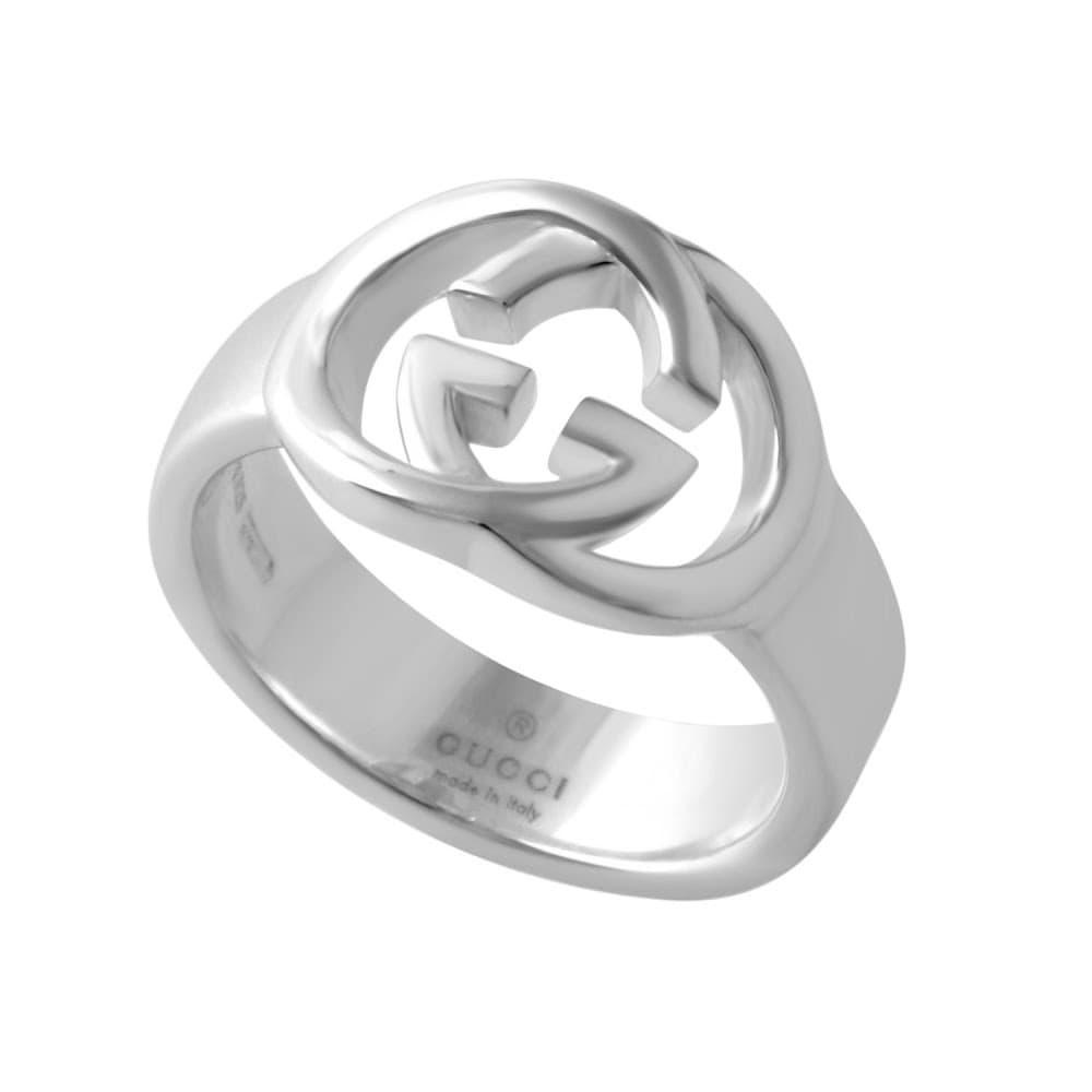 GUCCI グッチ 190483-J8400-8106 (YBC190483001) インターロッキングG リング 指輪 Britt