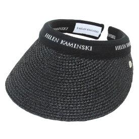 ヘレンカミンスキー サンバイザー HELEN KAMINSKI Bianca/Charcoal/Black Logo ビアンカ UPF50+ クリップ ラフィア製ハット レディス帽子