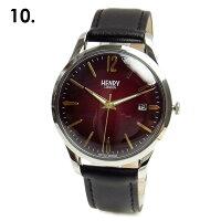 HENRYLONDONヘンリーロンドン時計レディースメンズ39mmユニセックスカレンダー本革ベルト