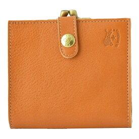 イルビゾンテ 財布 IL BISONTE Caramel がま口小銭入れ付 二つ折り財布 C0556-145