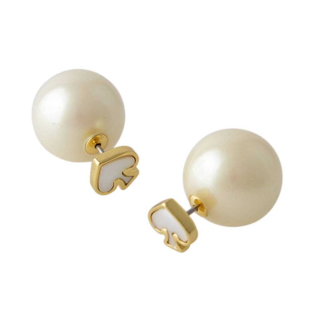 ケイトスペード Kate Spade WBRUD617-143 Cream Multi スペード型 パール リバーシブル 2WAY ピアス Signature Spade Reversible Earrings