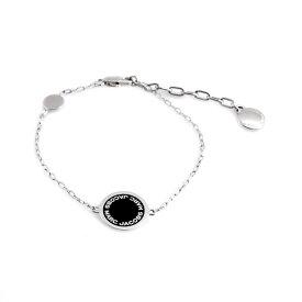 マークジェイコブス MARC JACOBS M0008540-068 Black/Argento ロゴ ディスク エナメル ブレスレット Logo Disc Enamel Bracelet