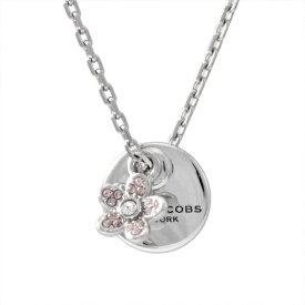 マークジェイコブス ネックレス ペンダント MARC JACOBS Silver コイン デイジー MJ Coin Daisy Crystal Pendant M0012398-040