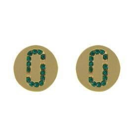 マークジェイコブス ピアス MARC JACOBS Emerald/Gold クリスタル 「J」ロゴモチーフ ディスク スタッド M0011472-381