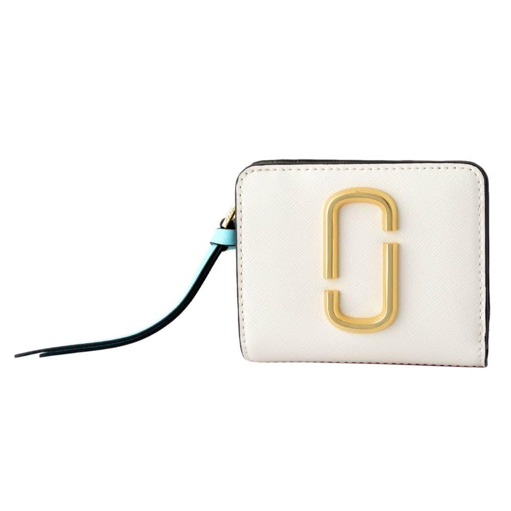 マークジェイコブス 財布 MARC JACOBS 二つ折り ミニ財布 ダブルJロゴ スナップショット カラーブロック M0013360-287