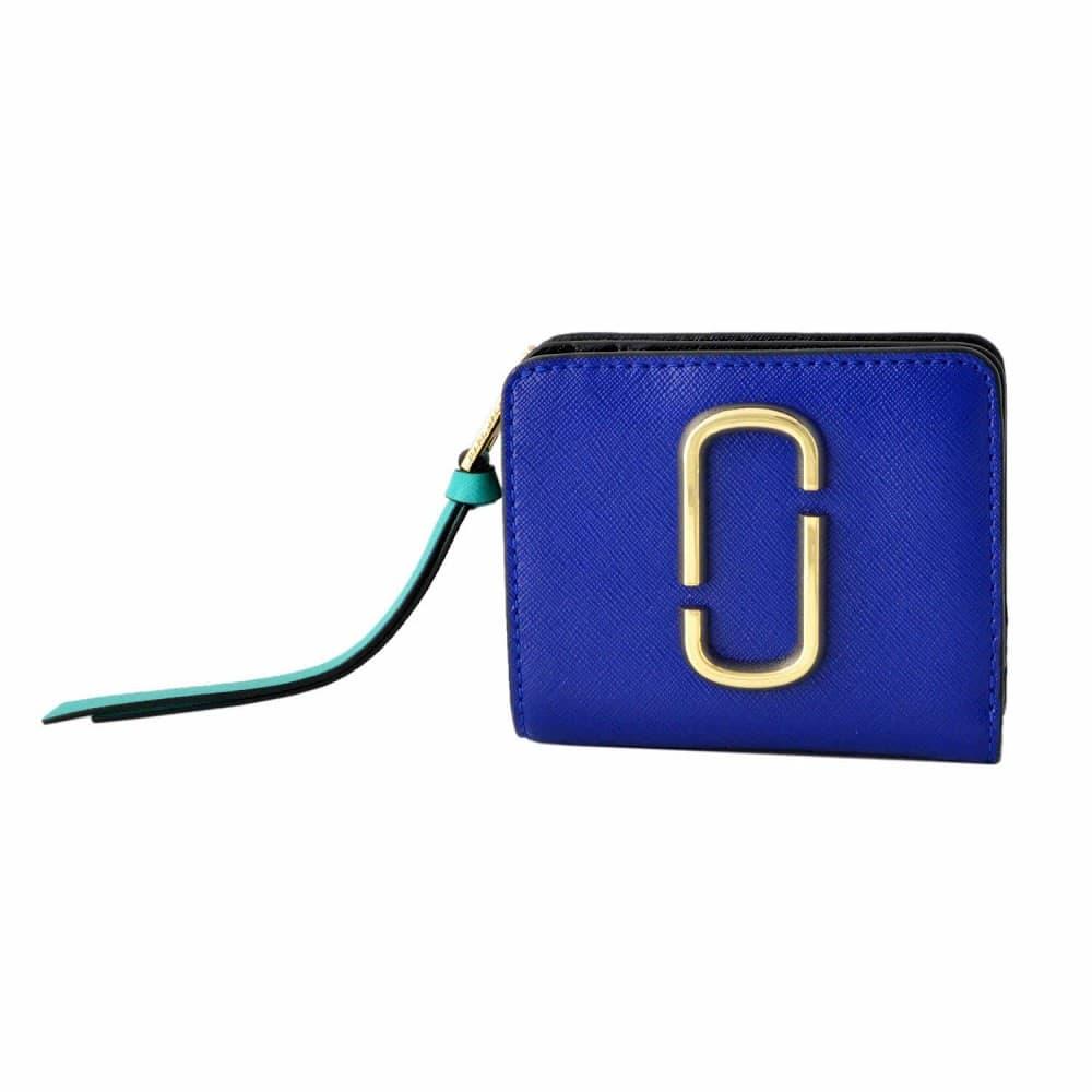 マークジェイコブス 財布 MARC JACOBS ダブルJロゴ スナップショット カラーブロック 二つ折り ミニ財布 M0013360-462