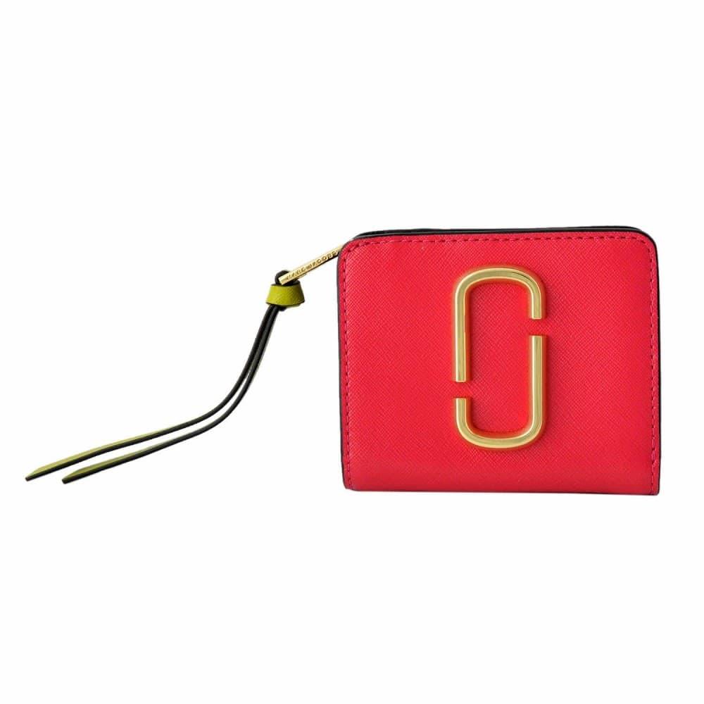 マークジェイコブス 財布 MARC JACOBS ダブルJロゴ スナップショット カラーブロック 二つ折り ミニ財布 M0013360-998