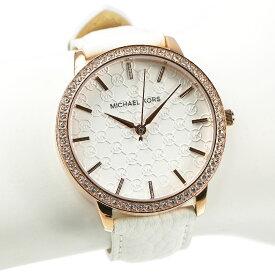 マイケルコース 腕時計 レディース MICHAEL KORS ローズゴールド ホワイトレザーベルト MK2223