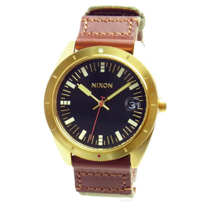 NIXON ニクソン メンズ腕時計 ROVER ローバー サープラス/ゴールド ブラック×ブラウン×カーキ A3551432 A355-1432 メンズウォッチ 男性用