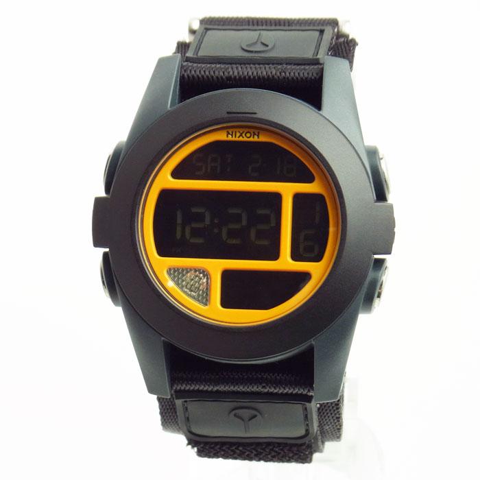 ニクソン 腕時計 メンズ NIXON BAJA バハ ブラック/スティールブルー/ネオンオレンジ A489-1323 A4891323 メンズ 男性用
