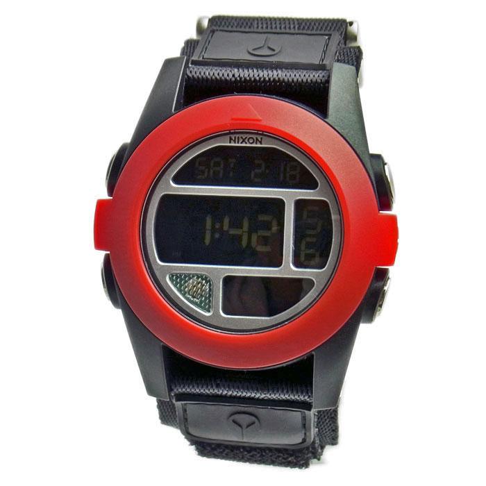 ニクソン 腕時計 メンズ NIXON BAJA バハ ブラック×レッド A489-760 A489760 メンズ 男性用