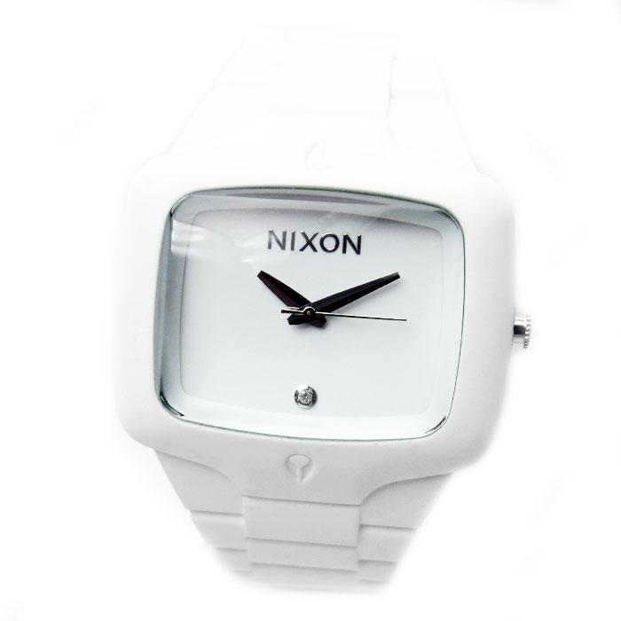 ニクソン 腕時計 メンズ NIXON RubberPlayer ラバープレイヤー 1Pダイヤ ホワイト メンズ 男性用 A139-100 A139100