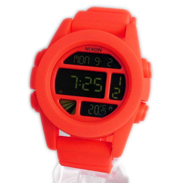 NIXON ニクソン メンズ腕時計 THE UNIT ユニット ネオンオレンジ デジタルウォッチ メンズウォッチ 男性用 A197-1156 A1971156