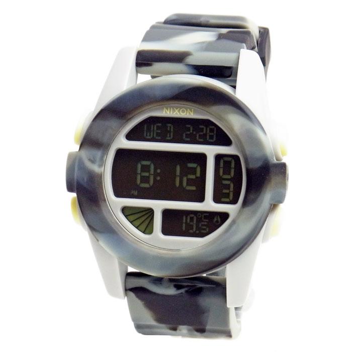 【アウトレット】 ニクソン 腕時計 NIXON THE UNIT ユニット マーブルブラックスモーク デジタル メンズ レディース ユニセックス A1971611 A197-1611