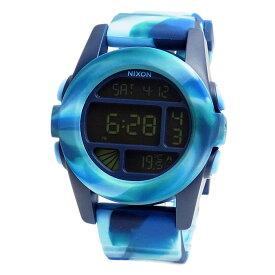 ニクソン 腕時計 NIXON THE UNIT ユニット マーブルブルー デジタル メンズ レディース ユニセックス A1971726 A197-1726