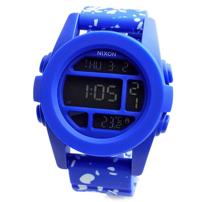 NIXON ニクソン 腕時計 メンズ ユニセックス THE UNIT ユニット ブルー コバルトスペックル デジタル メンズウォッチ 男性用 A197-2303 A1972303