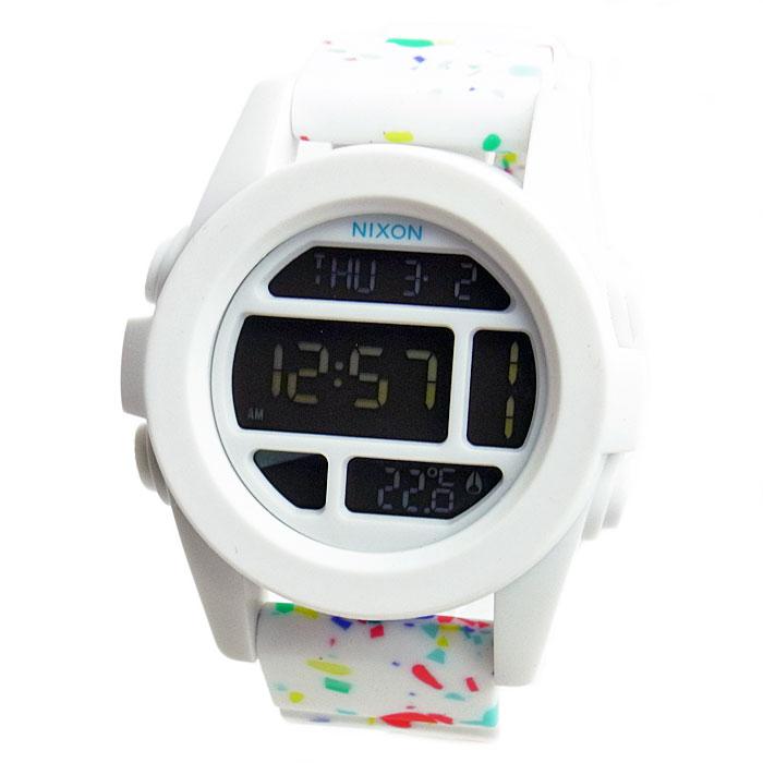 NIXON ニクソン 腕時計 メンズ ユニセックス THE UNIT ユニット ホワイト マルチスペックル デジタル メンズウォッチ 男性用 A197-2313 A1972313