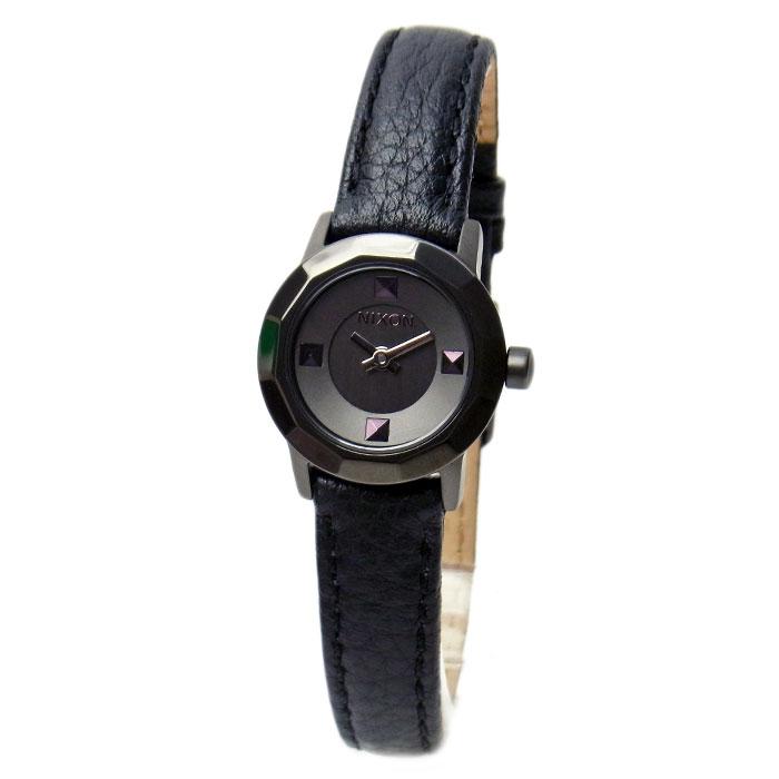 NIXON ニクソン 腕時計 レディース MINI B ミニビー ガンメタル/ブラック 女性用 A3381531 A338-1531