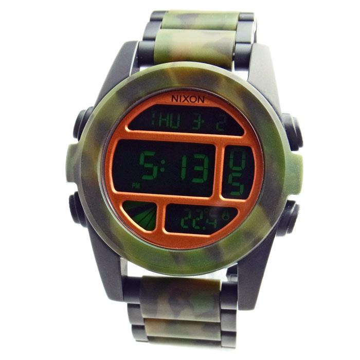 ニクソン 腕時計 メンズ NIXON THE UNIT SS ユニットSS マットブラック/カモ デジタル メンズ 男性用 A360-1428 A3601428