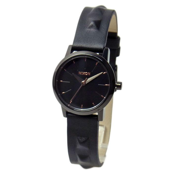 NIXON ニクソン 腕時計 レディース KENZI LEATHER ケンジレザー オールブラック/スタッズ 女性用 A3981669 A398-1669