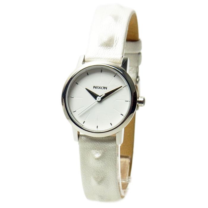 NIXON ニクソン 腕時計 レディース KENZI LEATHER ケンジレザー オールホワイト/スタッズ 女性用 A3981811 A398-1811