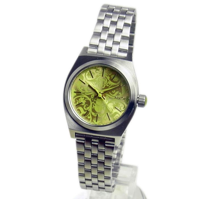 ニクソン 腕時計 レディース NIXON Small Time Teller スモールタイムテラー シルバー/ネオンイエロー レディースウォッチ 女性用 A3991898 A399-1898