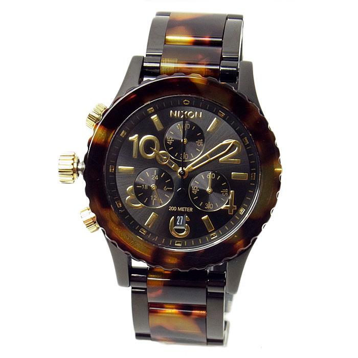 ニクソン 腕時計 メンズ レディース NIXON 38-20 クロノグラフ オールブラック/トートイズ A404679 A404-679