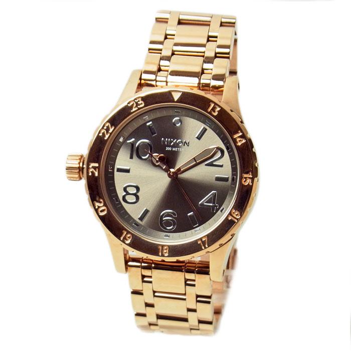 ニクソン 腕時計 メンズ レディース NIXON 38-20 ローズゴールド/トープ(グレー) A4102214 A410-2214