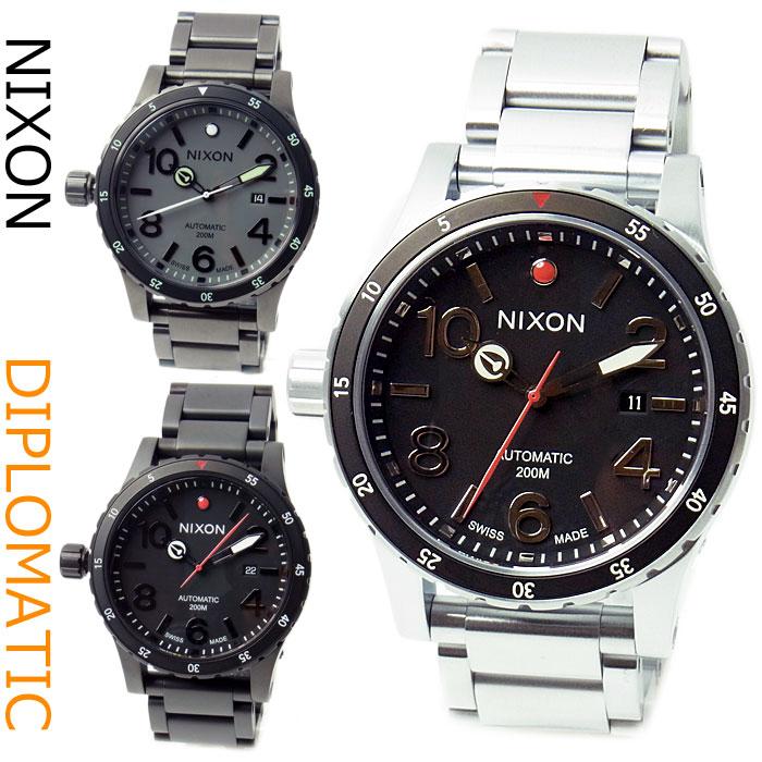 ニクソン 腕時計 NIXON オートマティック DIPLOMATIC 46mm ディプロマティック 選べるカラー3種類 メンズ