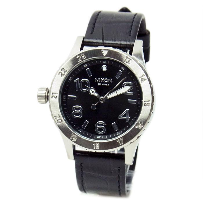 NIXON ニクソン 腕時計 ユニセックス 38-20 LEATHER レザー ブラックゲーター A4671886 A467-1886