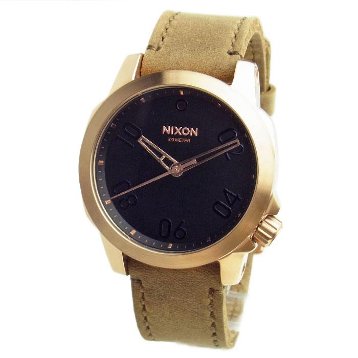 NIXON ニクソン 腕時計 メンズ ユニセックス RANGER 40 LEATHER レンジャー40レザー ローズゴールド/ブラウン A471-1890 A4711890 【RCP】