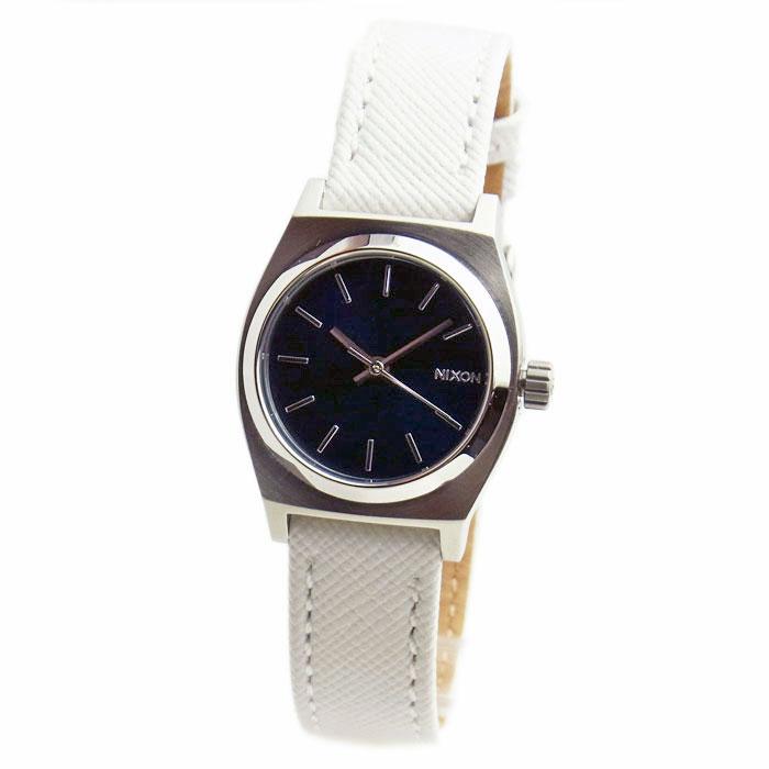 NIXON ニクソン 腕時計 レディース Small Time Teller スモールタイムテラー レザー ネイビー/ホワイト 女性用 A509-321 A509321 【RCP】